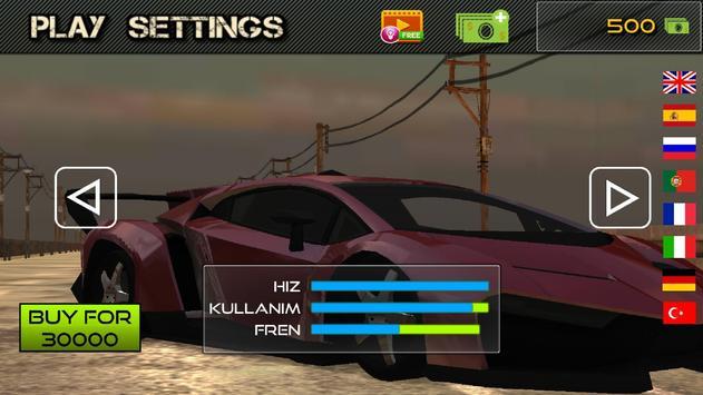 Unlimited Car Race 3D screenshot 2