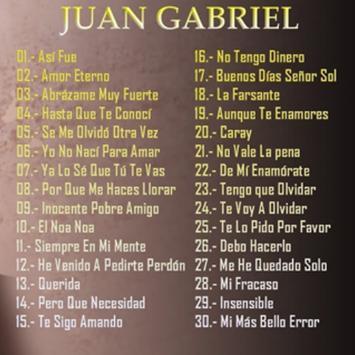 Juan Gabriel Mp3 screenshot 1