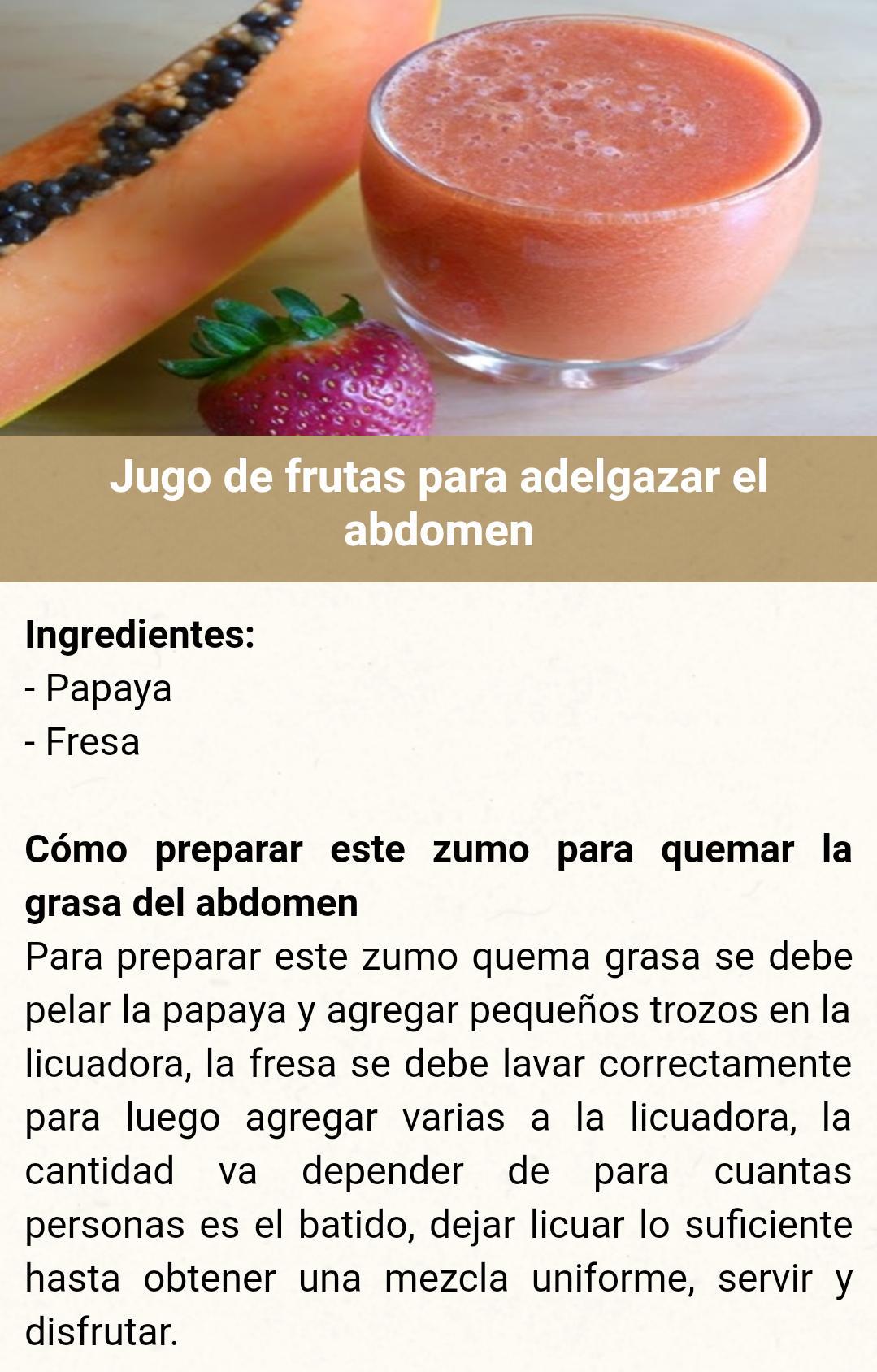 jugo de frutas quema grasa