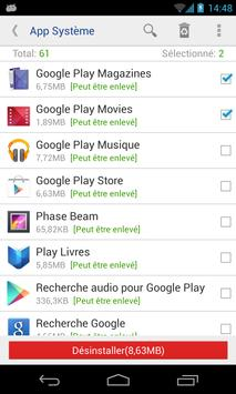 Désinstalleur App Sytème(root needed) Affiche