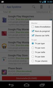 Désinstalleur App Sytème(root needed) capture d'écran 1