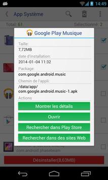 Désinstalleur App Sytème(root needed) capture d'écran 2