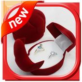 Ring box unique design icon