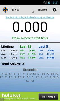 SpeedCube Timer Free poster