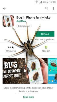 Spider in phone funny joke screenshot 1