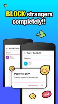 JusTalk Kids - Safe Video Chat and Messenger screenshot 1