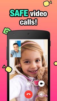 JusTalk Kids - Safe Video Chat and Messenger poster