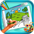 Scenery Coloring Book
