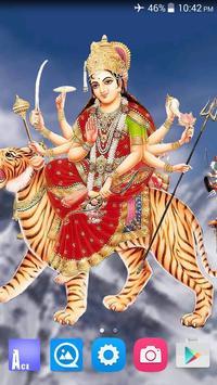 4D Maa Durga Live Wallpaper poster