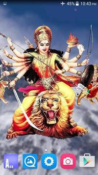 4D Maa Durga Live Wallpaper Ekran Görüntüsü 1