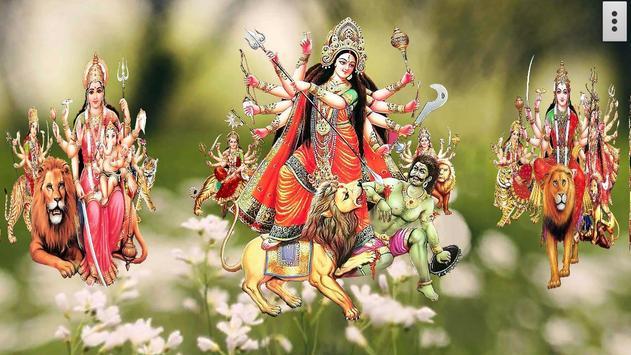 4D Maa Durga Live Wallpaper 截图 2