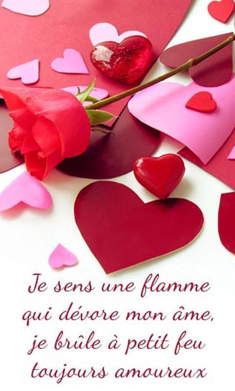 Messages D Amour En Français Cartes Romantiques для