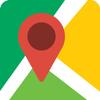 Icona GPS in tempo reale, mappe, indicazioni stradali