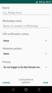 Notification Assistant for WhatsApp screenshot 1
