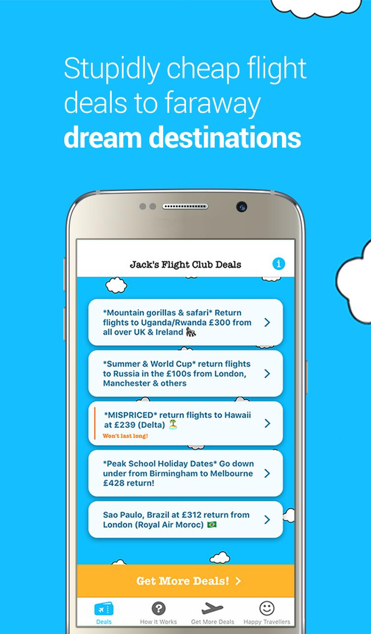 Jack's Flight Club - Cheap Flight Deals for Android - APK