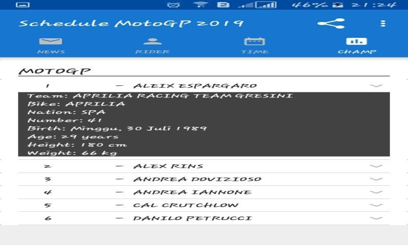 MotoGP 2019 Schedule for Android - APK Download