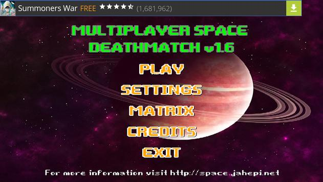 Multiplayer Space Deathmatch poster