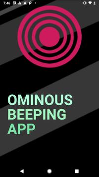 Ominous Beeping App - Rick and Morty poster