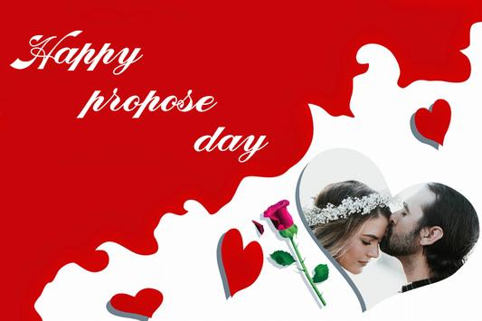 Propose Day Photo Frame poster