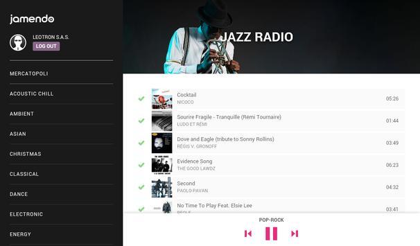 Jamendo In-Store Radio captura de pantalla 10