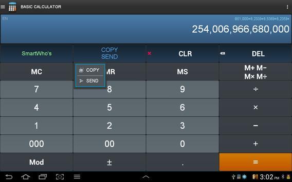 Calculatrice intelligente capture d'écran 9