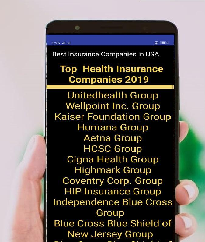 Best Rated Health Insurance Companies >> Best Insurance Companies In Usa 2019 For Android Apk Download