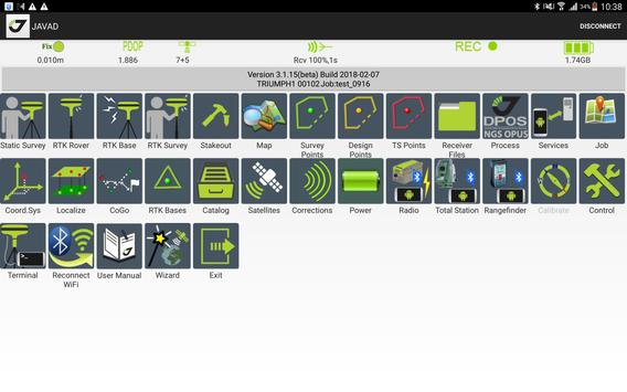 JAVAD Mobile Tools for authorised Receivers captura de pantalla 8