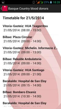 Basque Country blood donors screenshot 2