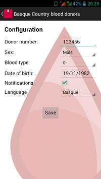 Basque Country blood donors screenshot 6