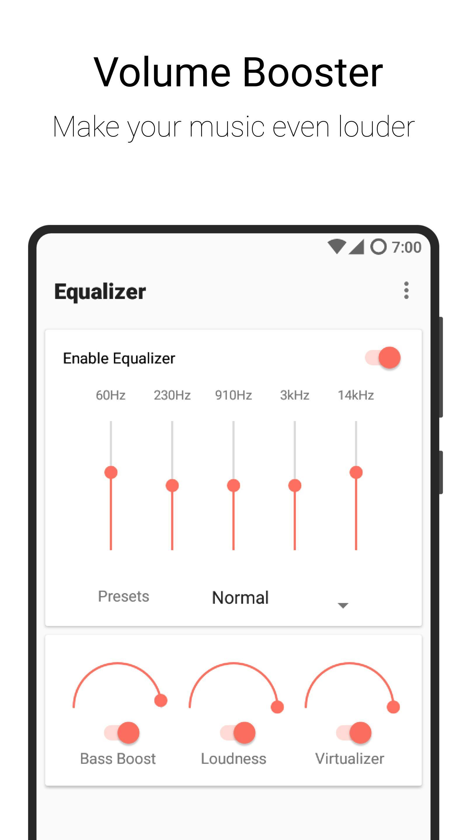 Flat Equalizer - Bass Booster & Volume Booster for Android - APK