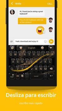 Teclado GO - Free emoticons, Emoji keyboard captura de pantalla 5