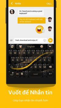 Bàn Phím GO-Bàn phím emoji, Vietnamese ảnh chụp màn hình 6