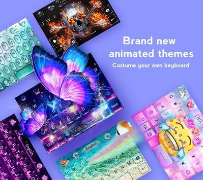 Teclado GO - Teclado emoji, Cute emoticons Cartaz