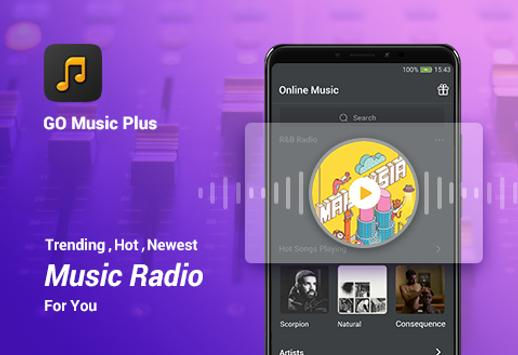 GO Music PLUS - Música gratis, radio, El jugador Poster