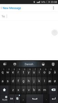 Danish for GO Keyboard - Emoji تصوير الشاشة 3
