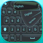 Big letters keyboard icon
