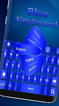 Blue keyboard theme poster