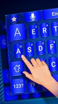 Blue keyboard theme screenshot 2