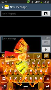 Fire Hearts Keyboard poster