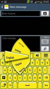 Lemon Keyboard poster