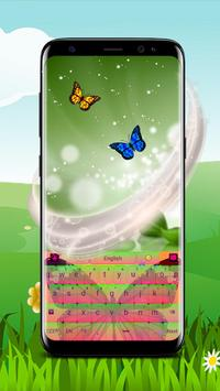 Colorful Butterfly Keyboard poster