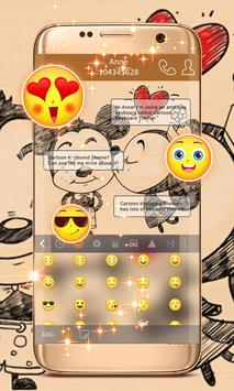 Cartoon Keyboard Theme screenshot 1