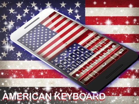 لوحة المفاتيح الأمريكية 2018 الملصق