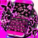 Neon Butterflies Teclado APK