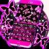 네온 나비 키보드 아이콘