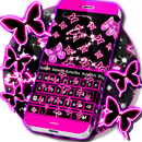 Neon Schmetterlinge Tastatur APK