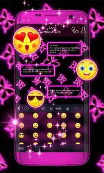 Neon Kelebekler Klavyesi Ekran Görüntüsü 1
