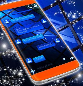 Blue SMS Theme 2019 screenshot 3