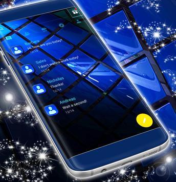 Blue SMS Theme 2019 screenshot 2