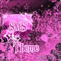 Pink Dark Star GO SMS Theme